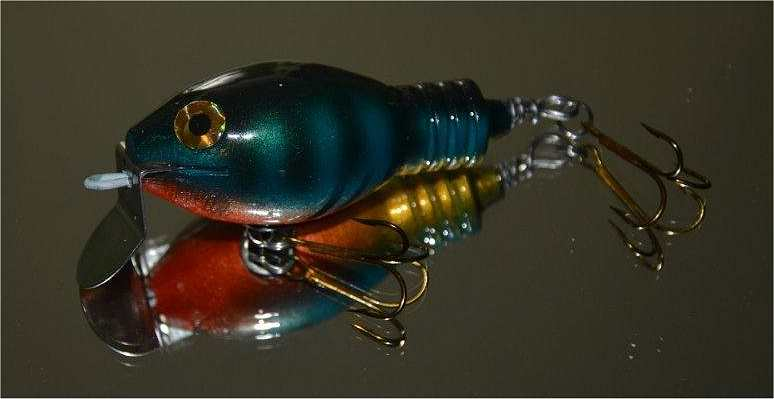 Saltwater freshwater wood fishing lure kits from salty 39 s for How to make a fishing spinner